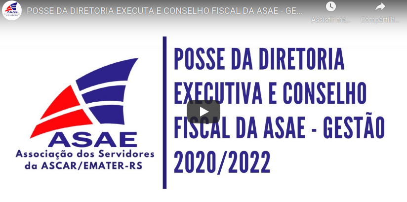 Posse da diretoria executiva e conselho fiscal da ASAE – Gestão 2020/2022