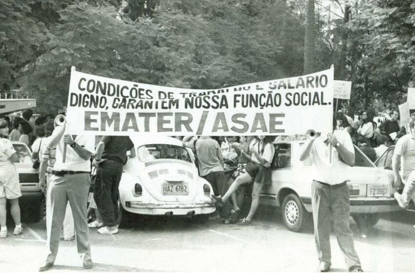 1989: mobilizações por melhores condições de trabalho e reajuste salarial