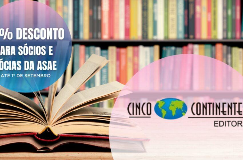 Sócios e sócias ASAE têm desconto de 45% para aquisição de livros