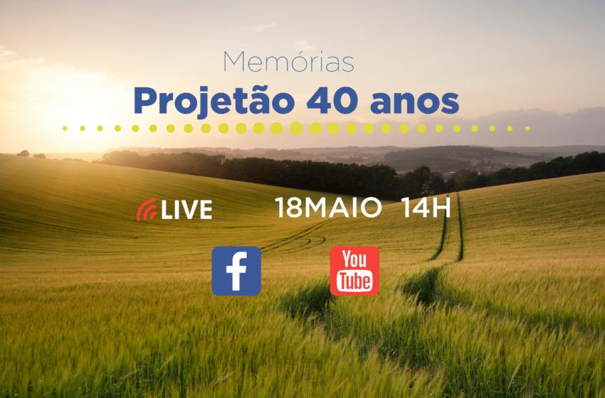 ASAE realiza LIVE para celebrar 40 anos do Projetão