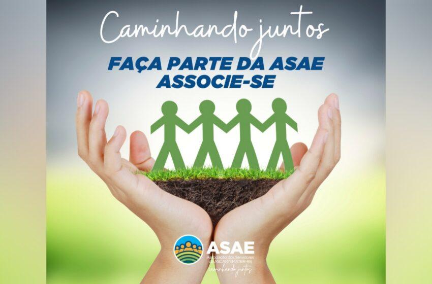 """Asae lança campanha de sócias e sócios """"Caminhando Juntos"""""""